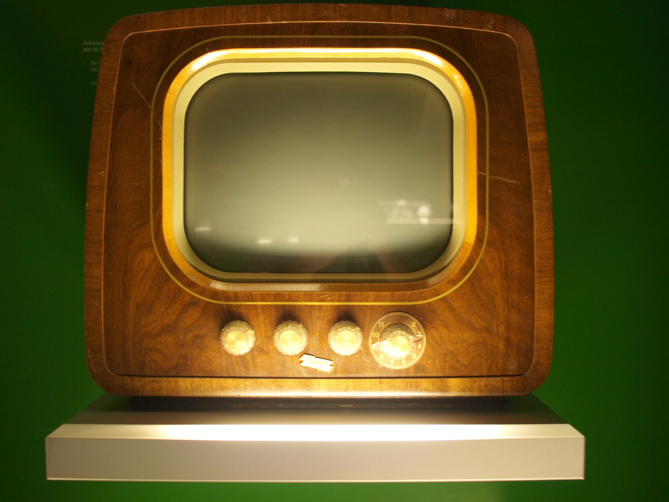 vintage television with four knobs